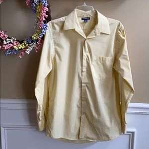 Men's Croft & Barrow Yellow Button Down Top